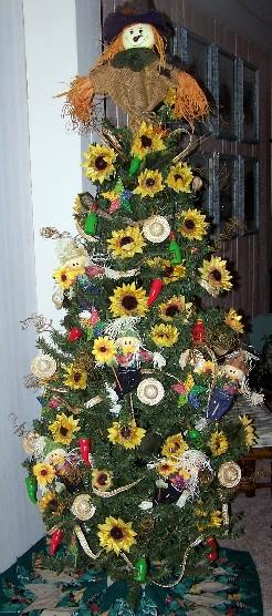 Autumn Tablescape Scarecrow Christmas Tree